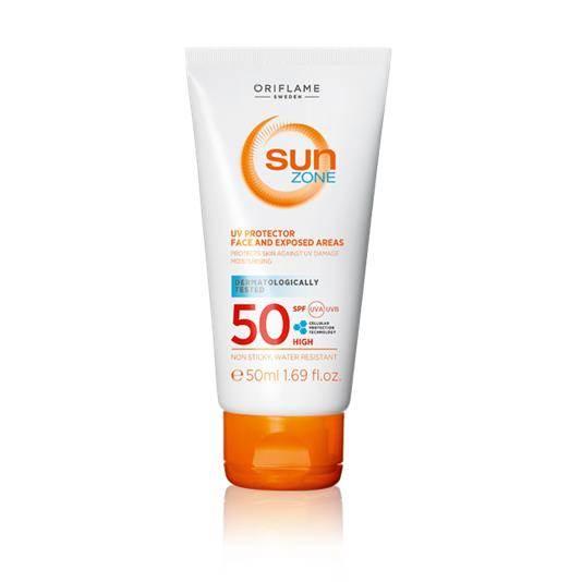 Aντηλιακό για το Πρόσωπο και τα Εκτεθειμένα Σημεία με SPF 50 Sun Zone