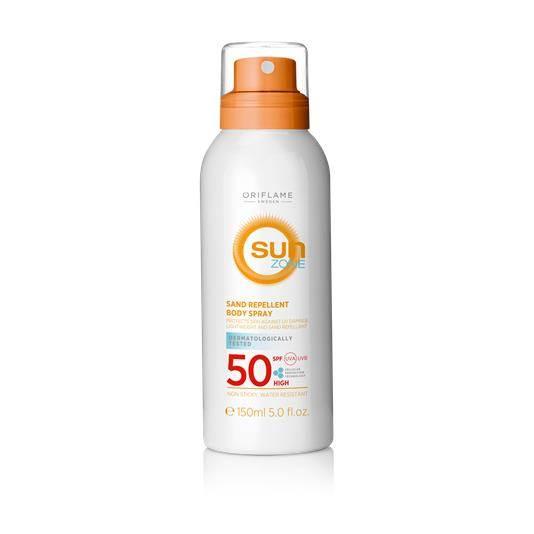 Spray Σώματος με SPF 50 που Απωθεί την Άμμο Sun Zone