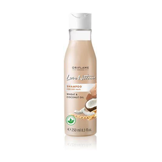 Σαμπουάν για Ξηρά Μαλλιά με Σιτάρι & Έλαιο Καρύδας Love Nature