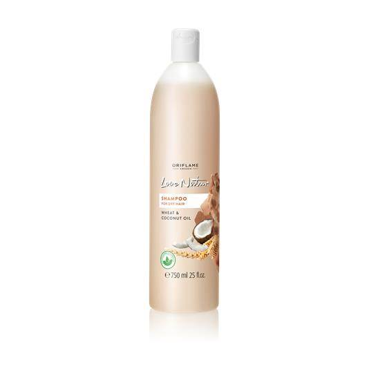 Σαμπουάν για Ξηρά Μαλλιά με Σιτάρι & Έλαιο Καρύδας Love Nature JUMBO