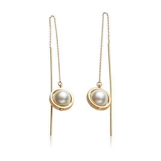 Σκουλαρίκια Dust Classic Pearl