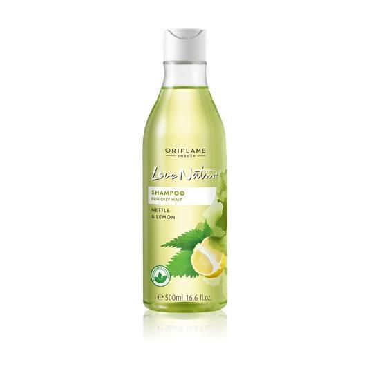 Σαμπουάν για Λιπαρά Μαλλιά με Τσουκνίδα & Λεμόνι Love Nature