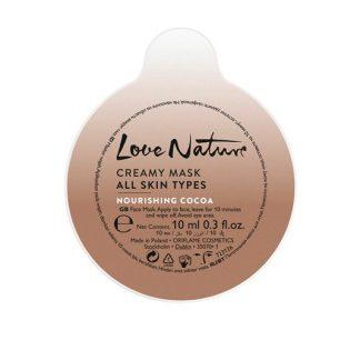 Κρεμώδης Μάσκα Για Όλους τους Τύπους Επιδερμίδας Mε Θρεπτικό Κακάο Love Nature