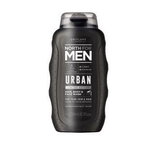 Προϊόν Καθαρισμού για τα Μαλλιά, το Σώμα & το Πρόσωπο North For Men Urban