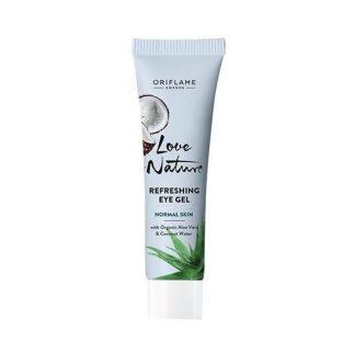 Αναζωογονητικό Gel Ματιών με Οργανική Aloe Vera & Νερό Καρύδας Love Nature