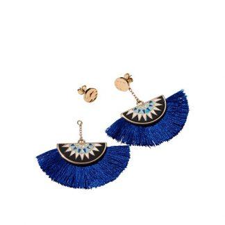 Σκουλαρίκια με Μπλε Φουντάκια Calm